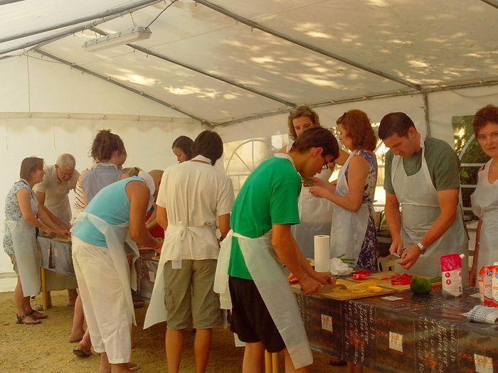 Camping avec cours de cuisine