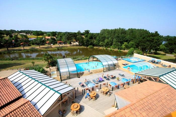 espace aquatique vu de haut dans meilleur camping Vendée