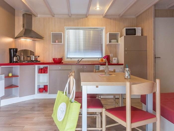 mobil-home familial au camping en Vendée